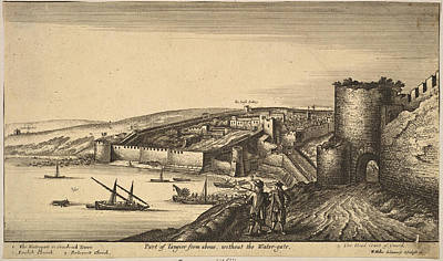 Drawing - Part Of Tangier From Above by Wenceslaus Hollar