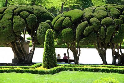 Photograph - Parterre Gardens In Parque Del Buen by Krzysztof Dydynski