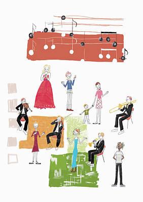 People Digital Art - Party Image by Daj