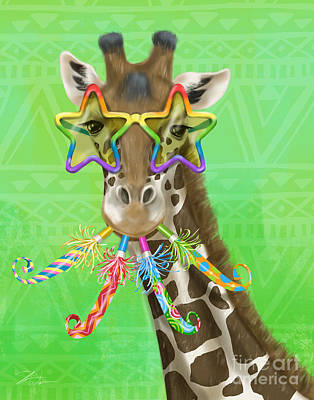 Mixed Media - Party Safari Giraffe by Shari Warren