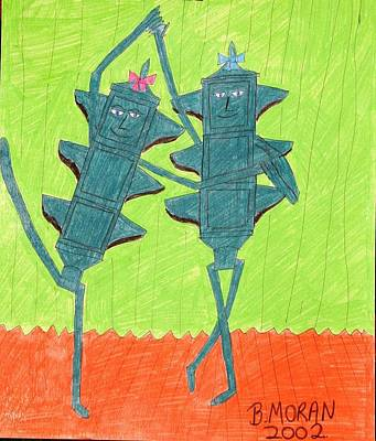 Drawing - Pas De Deux by Barb Moran