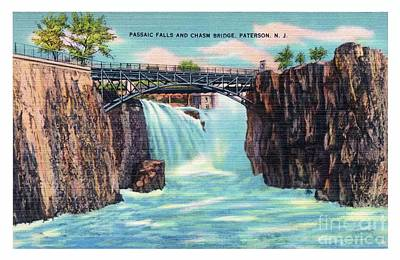 Photograph - Passaic Falls And Chasm Bridge Paterson N J  by Mark Miller