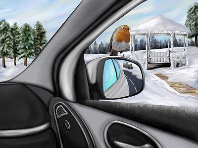 Digital Art - Passenger On A Sunday Drive by Mark Taylor