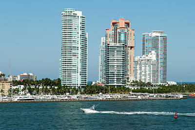 Photograph - Passing By Miami Beach by Ramunas Bruzas