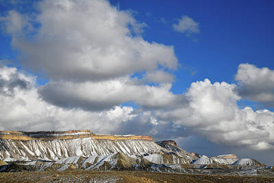 Photograph - Passing Clouds Over Book Cliffs In Colorado by Ray Mathis