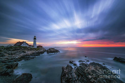 Photograph - Passing Time At Portland Head Light  by Michael Ver Sprill