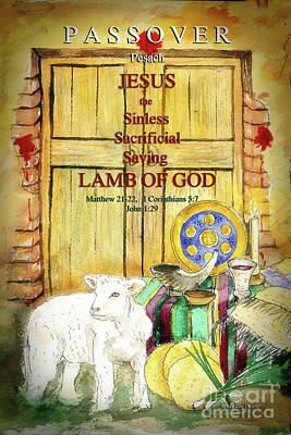 Passover - Jesus - Lamb Of God Art Print