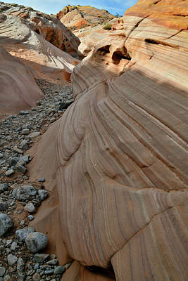 Photograph - Pastel Canyon Sandstone Waves In Valley Of Fire by Ray Mathis