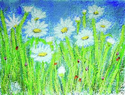 Target Threshold Watercolor - Pastel Daisy Love  by Barrie Stark