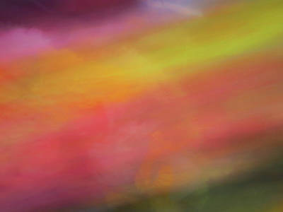 Photograph - Pastel Soft Blurred Line Background Of Pinks, Oranges, Yellows And Greens by Teri Virbickis