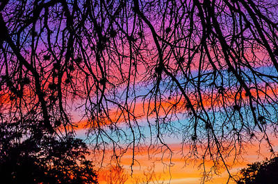 From The Kitchen - Pastel Sunset Silhouette by Doug LaRue