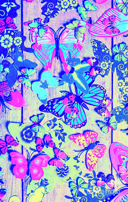 Rights Managed Images - Pastel wings and button butterflies Royalty-Free Image by Jorgo Photography - Wall Art Gallery