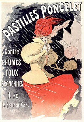Painting - Pastilles Poncellet Vintage French Advertising  by Vintage French Advertising