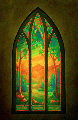Digital Art - Pastoral by Rick Wicker