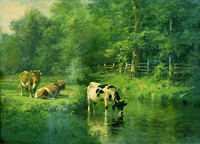 Painting - Pastoral Scene By Thomas Bigelow Craig by Superstock