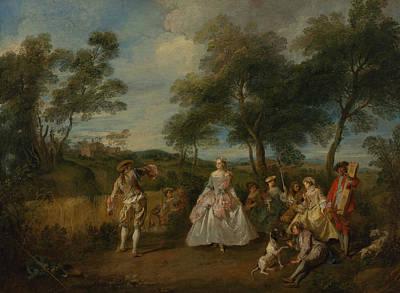 Painting - Pastorale Dans by Nicolas Lancret