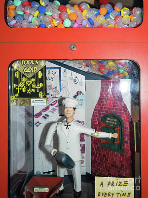 Photograph - Pastry Chef Vintage Penny Arcade Machine Dsc6820 by Wingsdomain Art and Photography