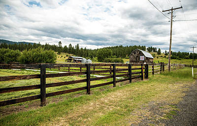 Photograph - Pasture Fences And Ranch Buildings by Tom Cochran