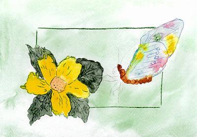 Belinda Landtroop Royalty Free Images - Patchwork Butterfly Royalty-Free Image by Belinda Landtroop