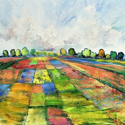 Painting - Patchwork  by Julia S Powell