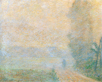 Basketball Patents - Path in the Fog, 1887 by Claude Monet