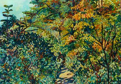 Painting - Path In Woods Near Pandapas by Kendall Kessler