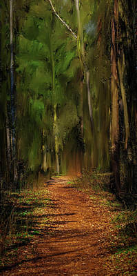 Mixed Media Royalty Free Images - Path Into Fairy Forest #i6 Royalty-Free Image by Leif Sohlman