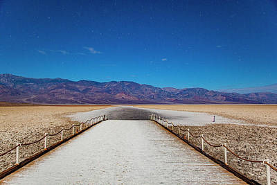 Photograph - Path Out To Badwater by Al Hann