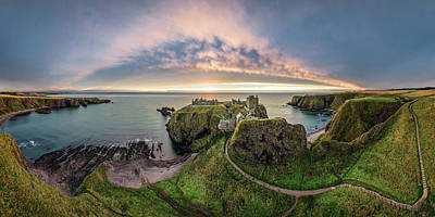 Castle Ruins Wall Art - Photograph - Path To Dunnottar Castle by Dave Bowman