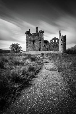 Fantasy Royalty-Free and Rights-Managed Images - Path to Kilchurn Castle by Dave Bowman