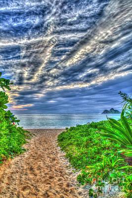 Photograph - The Path To Lanikai Beach Oahu Hawaii Art by Reid Callaway