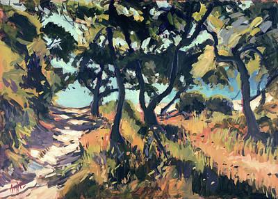 Painting - Path To Marmari Beach Loggos by Nop Briex