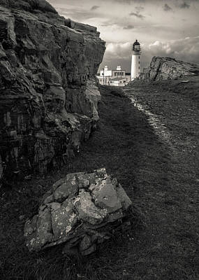 Photograph - Path To Rua Reidh Lighthouse by Dave Bowman