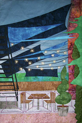 Patio At The Winds Art Print