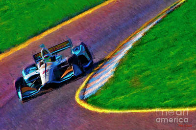 Photograph - Patricio O'ward Indy Car Harding Group Chevrolet by Blake Richards