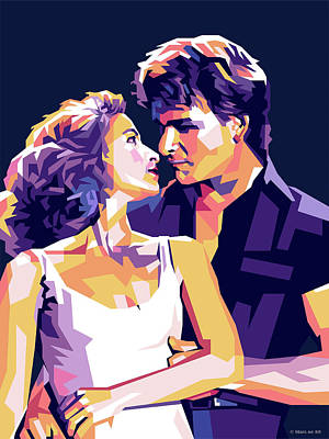 Billiard Balls - Patrick Swayze and Jennifer Grey by Stars on Art