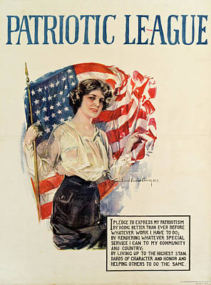 Photograph - Patriotic League Poster by The New York Historical Society