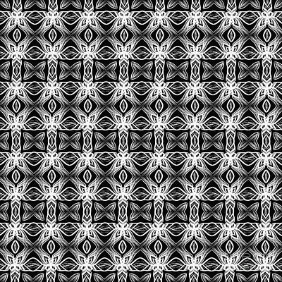 Photograph - Pattern In Black And White By Kaye Menner by Kaye Menner