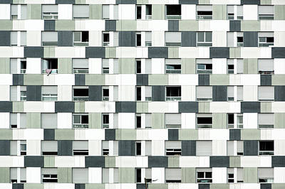 Photograph - Pattern Of Different Grays On Barcelona by Photograph © Eke Miedaner