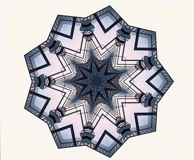 Symmetry Photograph - Pattern With Star Shape by Shigeru Tanaka