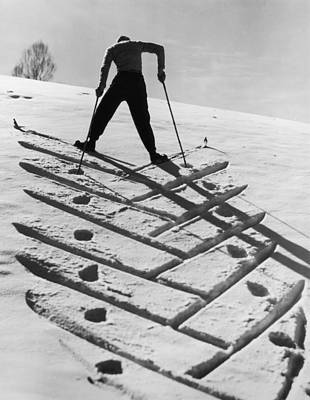 Skiing Photograph - Patterned Snow by Hulton Archive