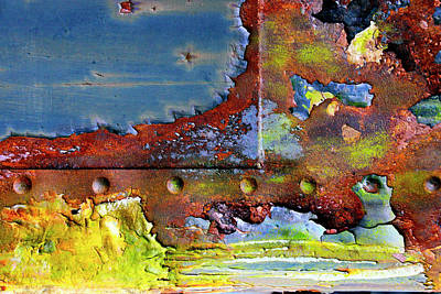 Photograph - Patterns In Rust And Paint by Paul W Faust - Impressions of Light
