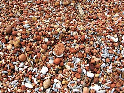 Landscape Wall Art - Photograph - Patterns Of Weipa Bauxite On The Beach by Joan Stratton