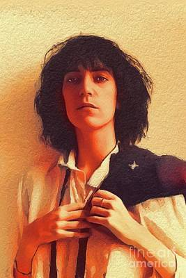 Music Paintings - Patti Smith, Music Legend by Esoterica Art Agency