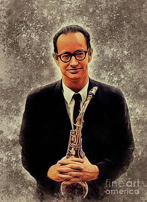 Recently Sold - Music Paintings - Paul Desmond, Music Legend by Esoterica Art Agency