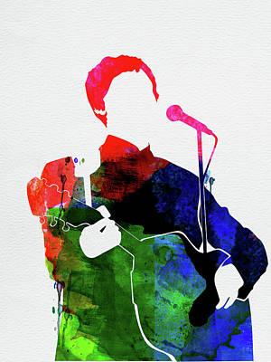 Rock Band Wall Art - Mixed Media - Paul Mccartney Watercolor by Naxart Studio