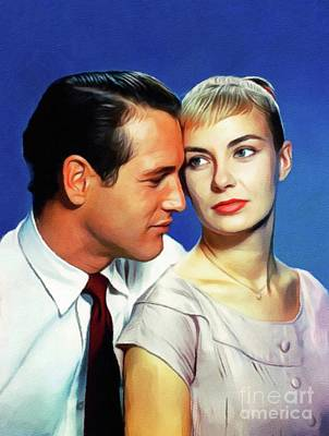 Royalty-Free and Rights-Managed Images - Paul Newman and Joanne Woodward by Esoterica Art Agency