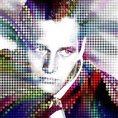 Painting - Paul Newman The Ultimate Super Star by Robert R Splashy Art Abstract Paintings