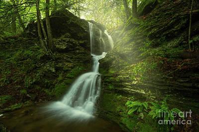 Southern Uplands Wall Art - Photograph - Pautipaug Glade - Beautiful Waterfall by JG Coleman
