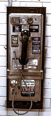 Photograph - Payphone by Traci Asaurus